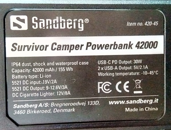 Powerbank Sandberg